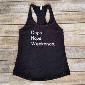 Dogs Naps Weekends - dog mom - fur mama tank top